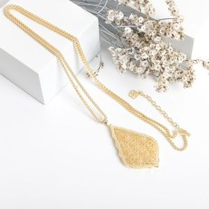 Kendra Scott Aiden Long Pendant Necklace In Gold